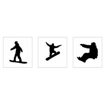 スノーボード|シルエット イラストの無料ダウンロードサイト「シルエットAC」