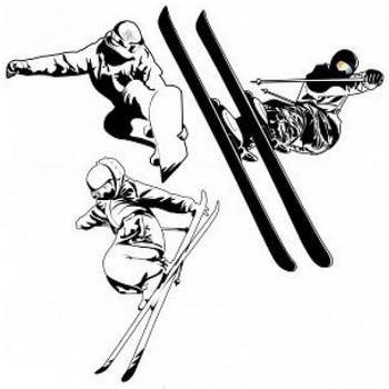 スノーボード/スキーイラスト 写真素材   無料ダウンロード