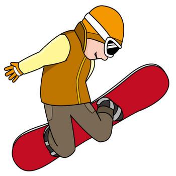 スキースノーボード15-スノーボード の無料イラスト-イラストポップのスポーツクリップアートカット集