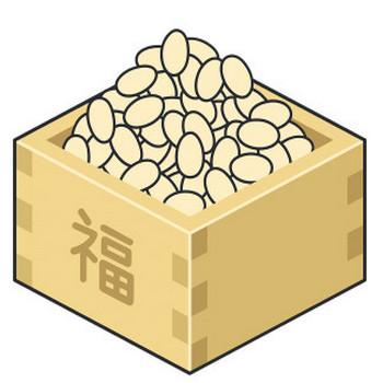 節分の豆のイラスト【無料・フリー】
