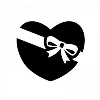 バレンタインチョコのシルエット | 無料のAi・PNG白黒シルエットイラスト