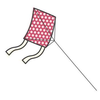 幼稚園児のイラスト・絵カード:凧(たこ)のイラスト・絵カード
