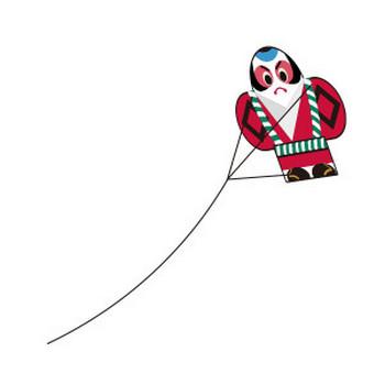 凧揚げ - フリーイラスト素材 「趣味で作ったイラストを配るサイト」