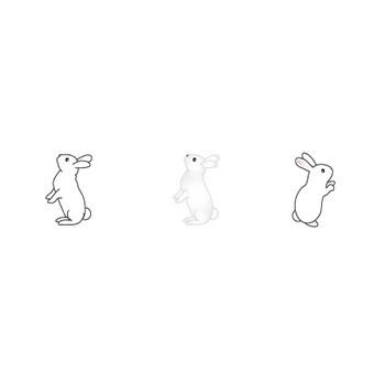 うさぎのイラスト(無料イラスト)フリー素材