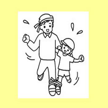運動会2/大きな行事/学校/無料イラスト【みさきのイラスト素材】