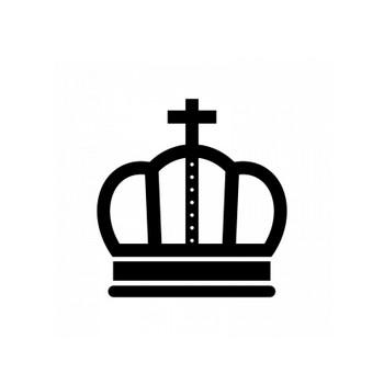 王冠のシルエット06 | 無料のAi・PNG白黒シルエットイラスト