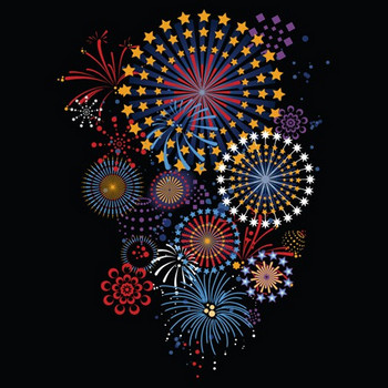 5 Vector brilliant fireworks | Free Vector Graphics | All Free Web Resources for Designer - Web Design Hot!