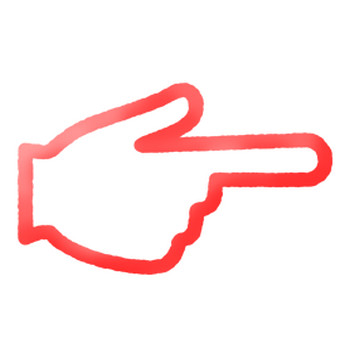 指さしアイコンの無料イラスト | フリーイラスト素材集 ジャパクリップ