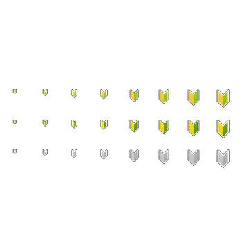 初心者マークその1 - フリーWEB素材サイト「DOTS DESIGN(ドッツ・デザイン)」