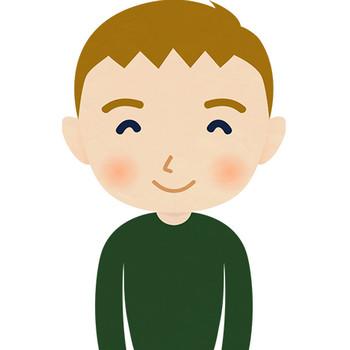笑顔の外国人男性(西欧)のイラスト - フォトスク:無料のフリー高画質写真素材画像