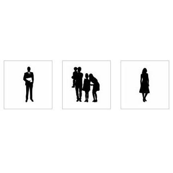 人物|シルエット イラストの無料ダウンロードサイト「シルエットAC」