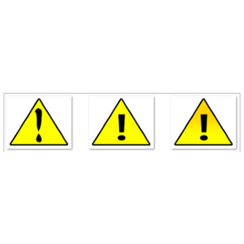 注意・警告マーク素材3個【フリー】 - 旧はる蔵ブログ