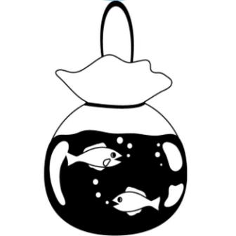 イラストポップの季節の素材 | 春夏秋冬の行事や風物のイラスト8月2-No19金魚の無料ダウンロードページ