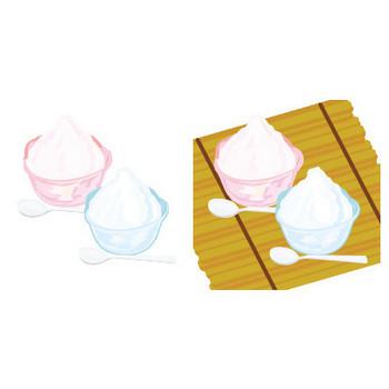 かき氷のイラスト素材 | イラスト素材パラダイス 商用利用無料のイラスト素材