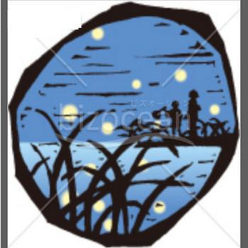 ホタルのいる風景の残暑見舞いイラスト|テンプレートのダウンロードは【書式の王様】