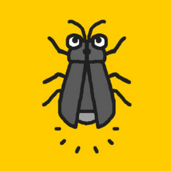 ホタル・蛍(モノクロ)/虫・昆虫の無料イラスト/ミニカット・クリップアート素材