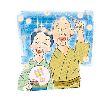 介護現場で使えるフリーイラスト集・ホタル【MY介護の広場】