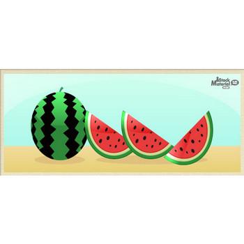 夏においしいスイカのイラスト素材 商用可能な無料(フリー)のイラスト素材ならストックマテリアル