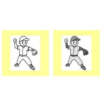 野球/クラブ・部活動/学校/無料イラスト【みさきのイラスト素材】