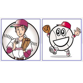 野球用品イラスト