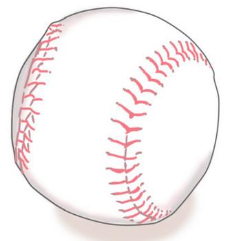 全国の野球小僧へっ!野球ボール(硬球)の無料イラスト   ぴぴ