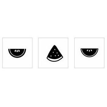 スイカ|シルエット イラストの無料ダウンロードサイト「シルエットAC」