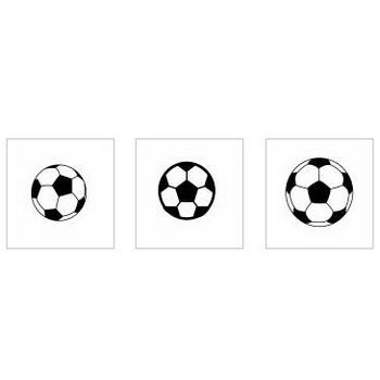 サッカーボール|シルエット イラストの無料ダウンロードサイト「シルエットAC」