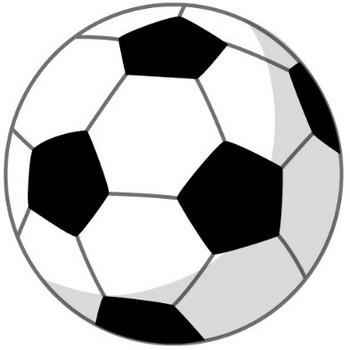 幼稚園児のイラスト・絵カード:サッカーボールのイラスト・絵カード