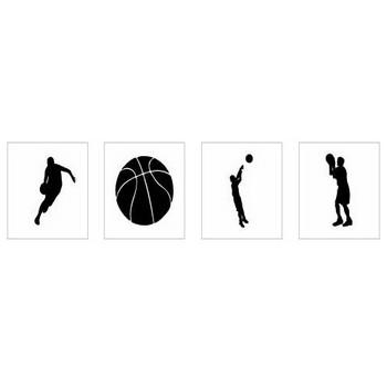 バスケットボール シルエット イラストの無料ダウンロードサイト「シルエットAC」