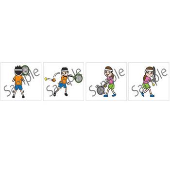 テニスイラスト・画像素材