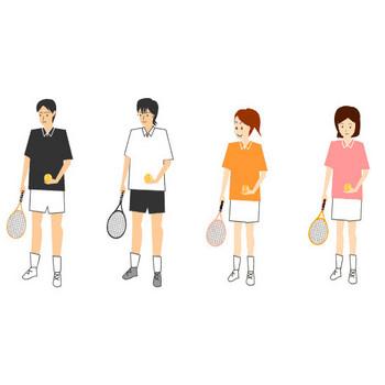 テニスのイラスト素材
