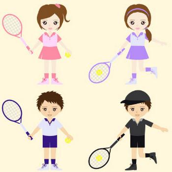【イラスト素材】硬式テニスをする男女を配布 | 駆け出しWebデザイナーの素材作成ブログ