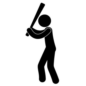 野球 - ピクトグラム - フリー素材