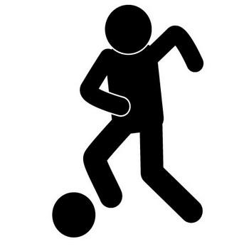 サッカー - ピクトグラム - フリー素材