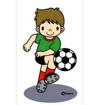 6月・サッカーのクリップアート : 子供と動物のイラスト屋さん(イラストレーターわたなべふみ)のブログ