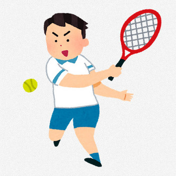 テニスの選手のイラスト | かわいいフリー素材集 いらすとや