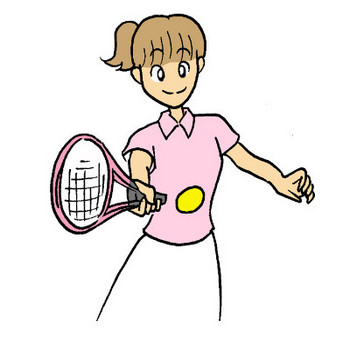 テニスのイラスト | かわいいフリー素材が無料のイラストレイン