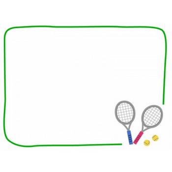 テニスのフレーム飾り枠イラスト | 無料イラスト かわいいフリー素材集 フレームぽけっと