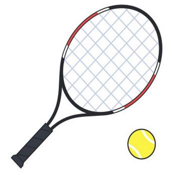 テニスボールとラケット【無料イラスト・フリー素材】