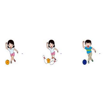 ボウリングの無料イラスト-イラストポップのスポーツクリップアートカット集