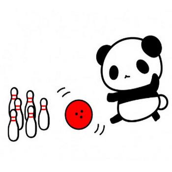 ボーリングするパンダイラスト | 無料イラスト素材|素材ラボ