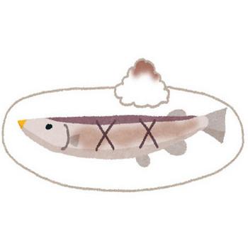 無料素材 | こんがり焦げ目がついた美味しそうな焼き秋刀魚を描いたイラスト。食欲の秋のデザインに。