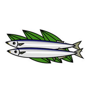 秋刀魚 - クリップアート - 彩BOX.com