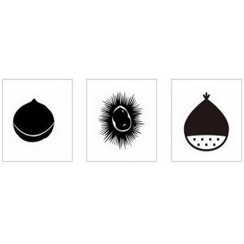 栗 シルエット イラストの無料ダウンロードサイト「シルエットAC」