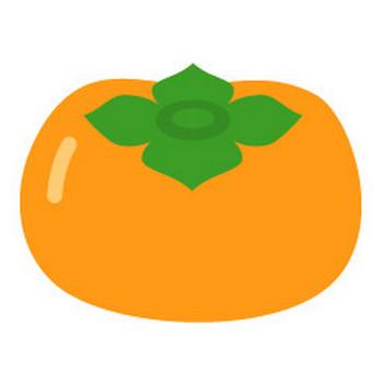 柿 - イラスト素材   商用利用可のベクターイラスト素材集「ピクト缶」