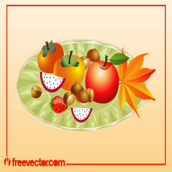 Autumn Food Vector Vector Art & Graphics | freevector.com