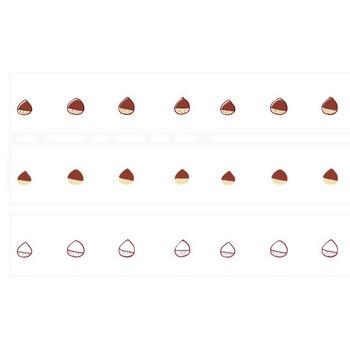 栗のイラストライン   罫線・飾り罫ライン素材 FREE LINE DESIGN