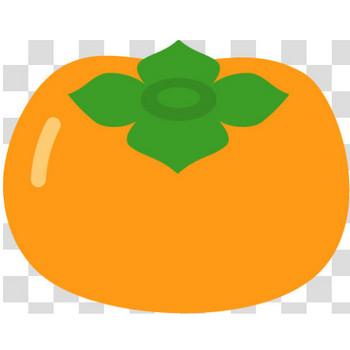 シンプルな柿のフリーイラスト素材