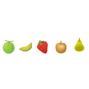 果物(フルーツ)イラストアイコン集 画像フリー素材|無料素材倶楽部
