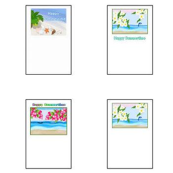 夏の風景・リゾート・暑中見舞い・ポストカード